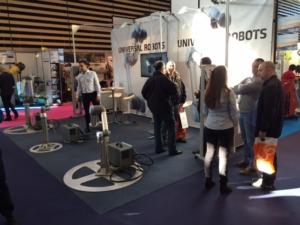 Salon Europack Euromanut Lyon 2015 Stand HMi MBS Universal Robots