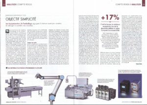Emballage magazine janvier fevrier 2016 Universal robots HMi-MBS