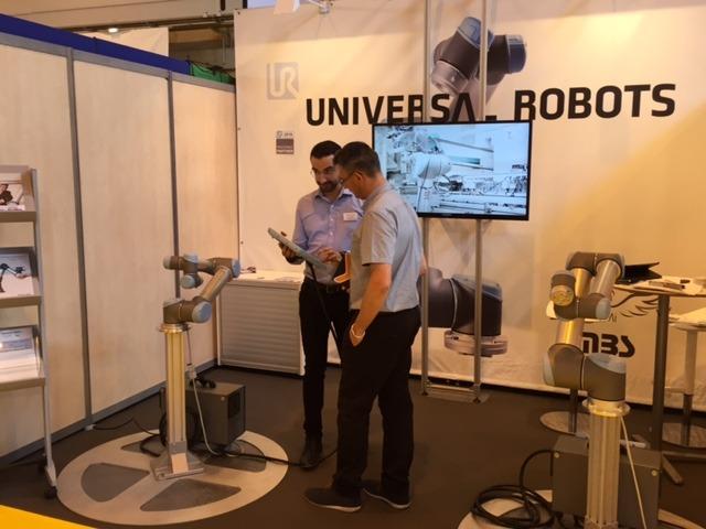 HMi-MBS Universal Robots au salon Sepem de Colmar 31 mai – 2 juin 2016