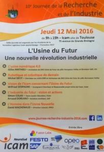 Usine du futur - 10e journée de la recherche et de l'industrie - 12 mai 2016