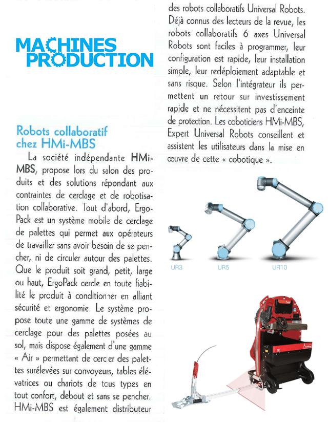 ARTICLE MACHINES PRODUCTION SEPEM DOUAI HMI MBS ERGOPACK UNIVERSAL ROBOTS