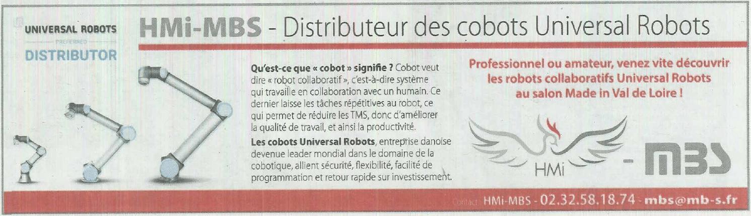 ARTICLE HMI MBS UNIVERSAL ROBOTS NOUVELLE REPUBLIQUE CAP ECO