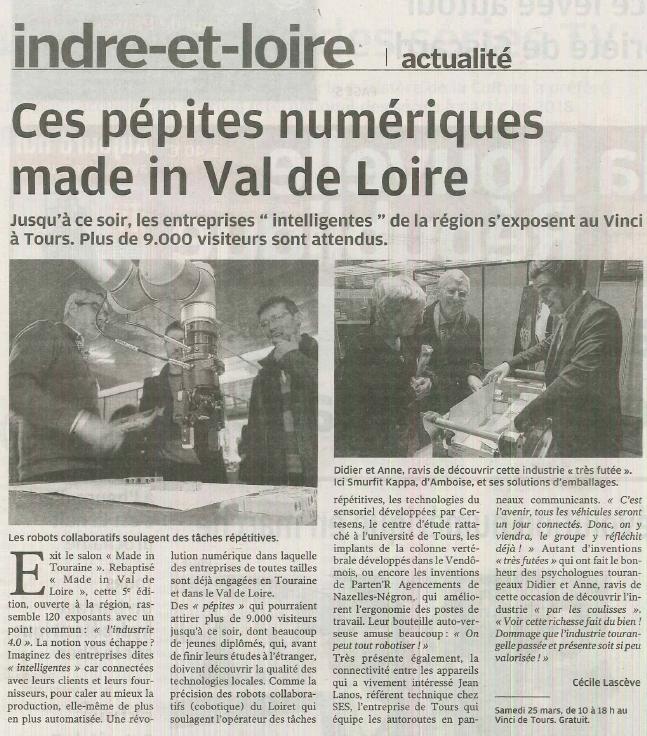 ARTICLE HMI MBS UNIVERSAL ROBOTS NOUVELLE REPUBLIQUE MADE IN VAL DE LOIRE