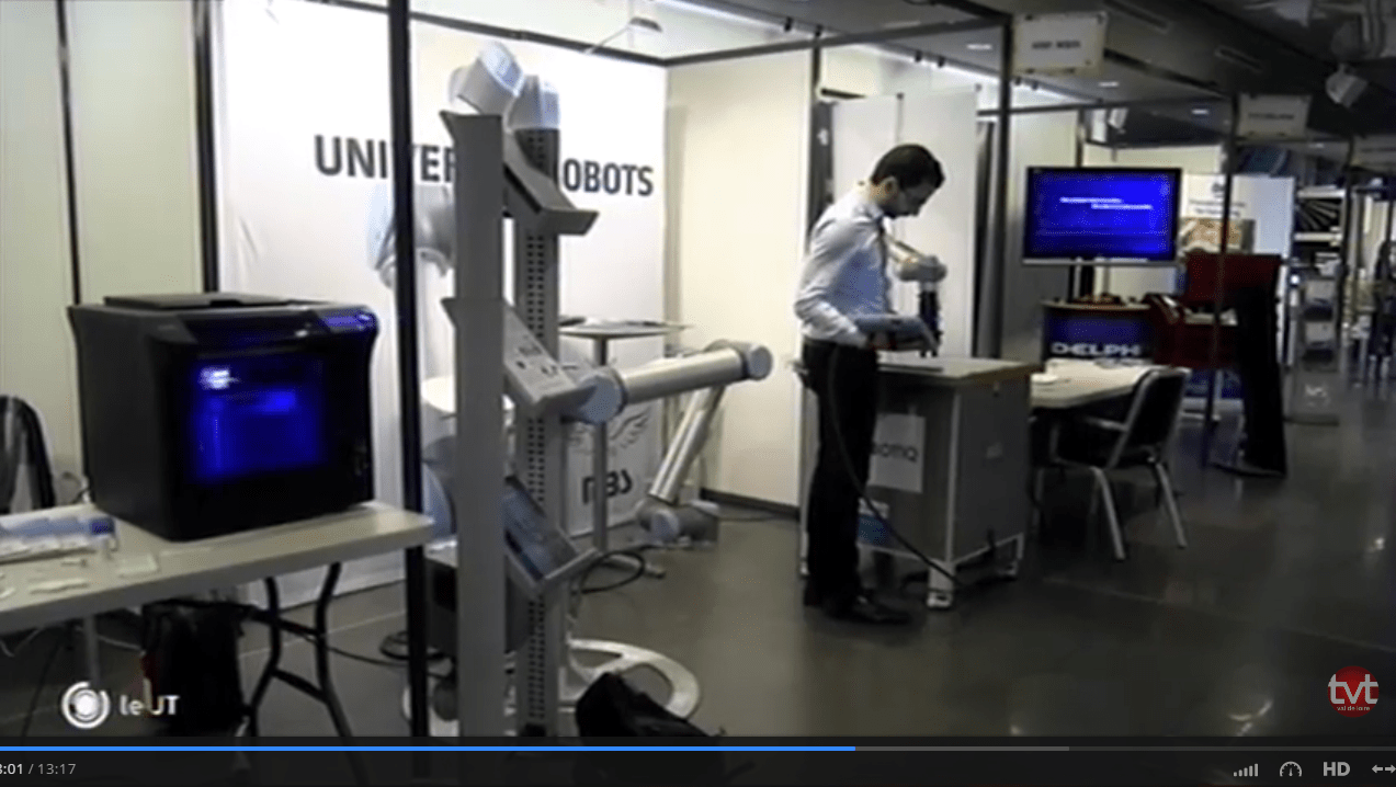 Made in val de loire Universal Robots HMi MBS Usine du Futur