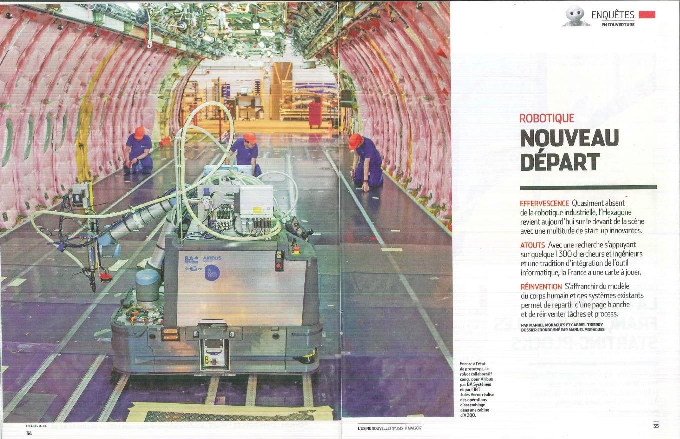 AIRBUS L'USINE NOUVELLE ROBOTS COLLABORATIFS UNIVERSAL ROBOTS HMi-MBS