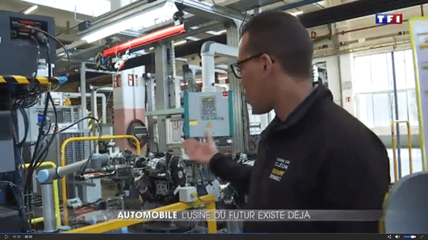 journal TF1 13.06.2017 reportage usine du futur Universal Robots Renault HMi MBS