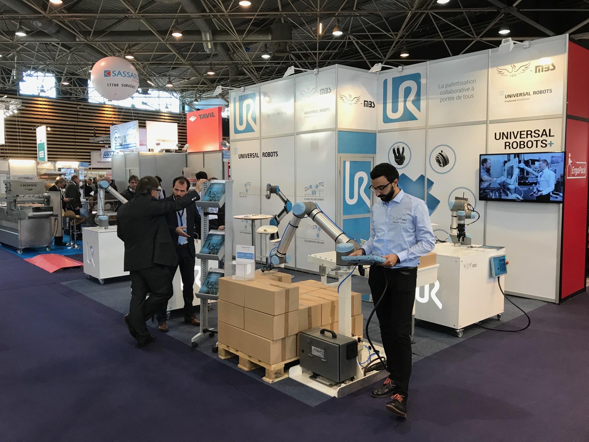 EUROPACK EUROMANUT UNIVERSAL ROBOTS HMI MBS COBOT ROBOT COLLABORATIF UR3 UR5 UR10