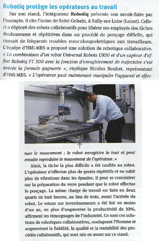 ARTICLE MACHINES PRODUCTION ROBOTIQ HMI MBS COBOTIQUE