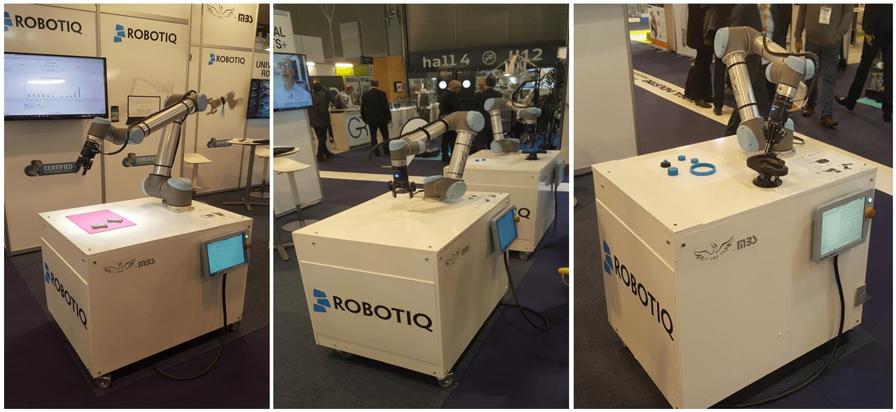 Zoom sur les applications Robotiq du salon Industrie