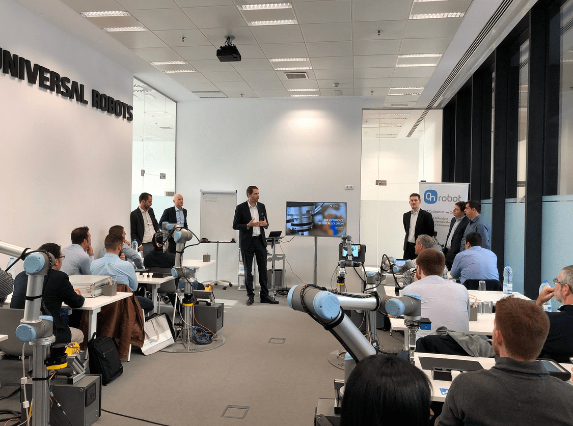 Partenariat Universal Robots, Sick, OnRobot et OptoForce : Collaborative Automation Tour 2018