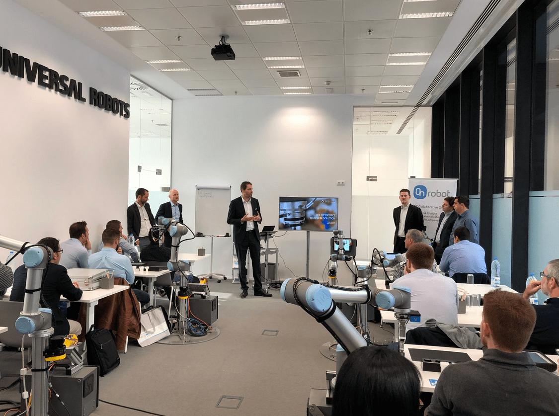 Partenariat Universal Robots, Sick, OnRobot et OptoForce : Collaborative Automation Tour 2018