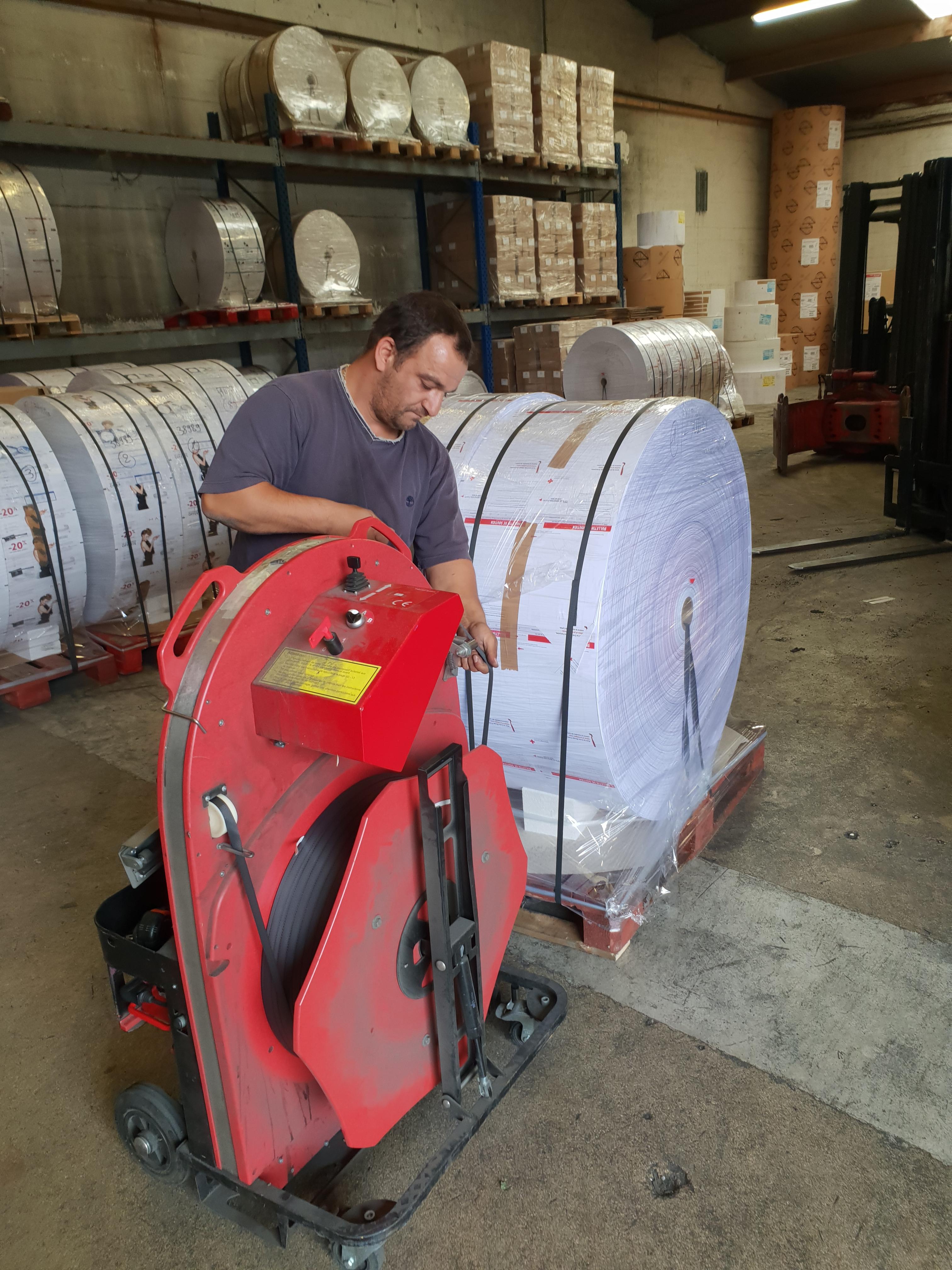 Cerclage de bobines avec l'ErgoPack