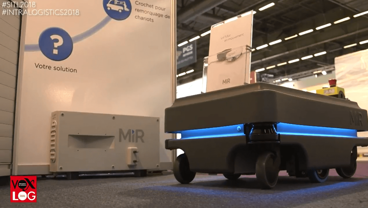 Interview au SITL par VOXLOG pour les robots MiR