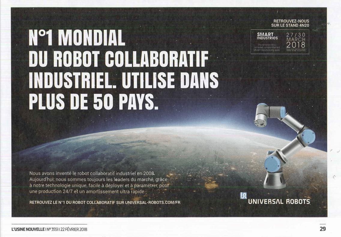 Universal Robots : Leader mondial de robots collaboratifs