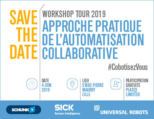 Workshop Tour 2019 organisé par Universal Robots