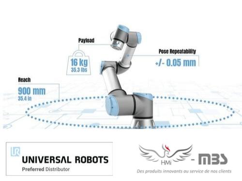 Sortie du nouveau cobot Universal Robots : l'UR16e !