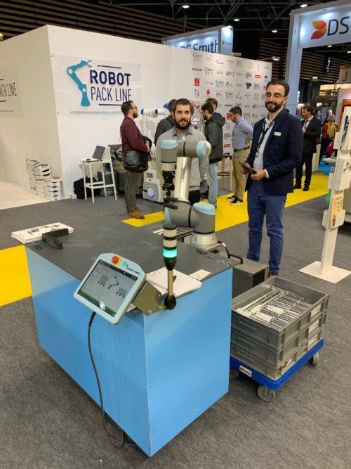 Universal Robots à la Robot Pack Line d'Europack Euromanut CFIA