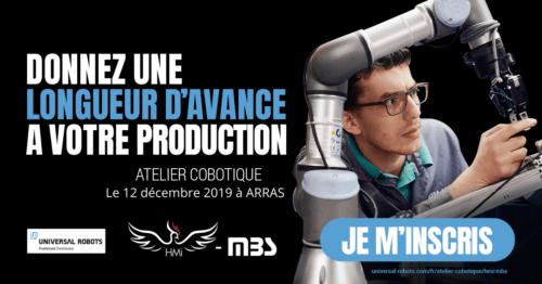 Inscription au Seminar In The Box d'Arras, en partenariat avec Universal Robots