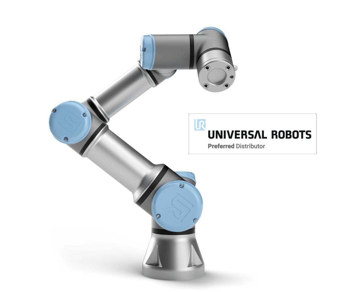 Universal Robots UR3 e, le cobot (robot collaboratif) capable de porter jusqu'à 3 kg.