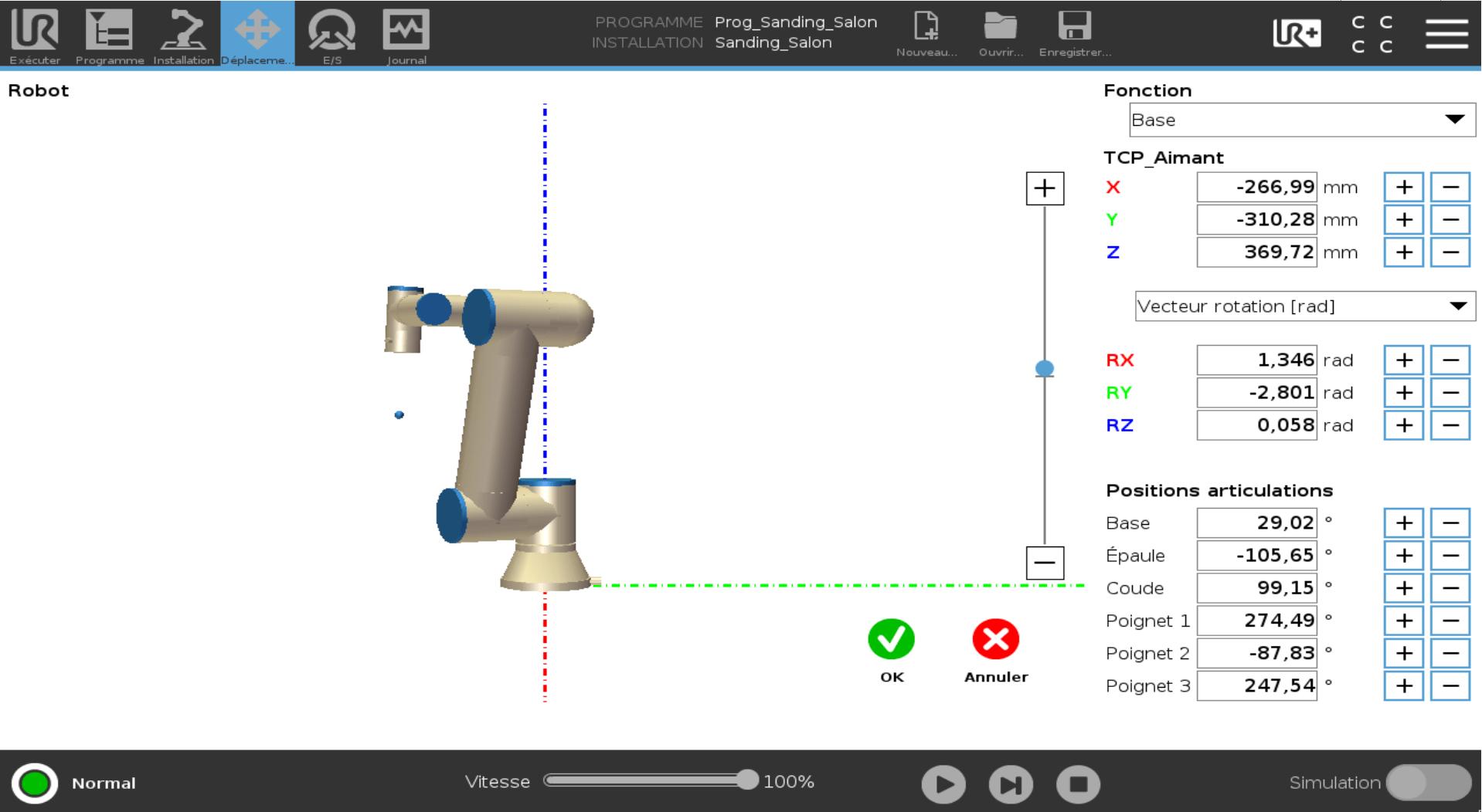 robot 6 axes configuration